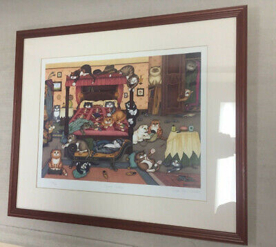 Signed Limited Edition Print ~ Boudoir Bedlam by Linda Jane Smith 534/750
