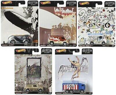 Hot Wheels 2019 Pop Culture Led Zeppelin, 1/64 Diecast Cars, Set of 5 DLB45-946E