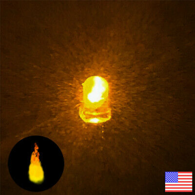100pcs 3mm Yellow Candle Light Flicker Ultra Bright Flickering LED Leds Lamp New
