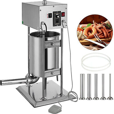10L Electric Sausage Stuffer Filler Meat Maker Filling Machine Stainless Steel