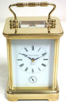 Vintage Matthew Norman 8 Day Carriage Clock Alarm Feature London Mantel Clock