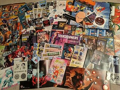 SDCC 2005-2019 Comic Con Exclusive Swag Bag Lot Poster Avengers Star Wars 2020