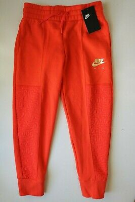 Nike Air Metallic Fleece Pants Joggers Trousers - Bv2704-634 Girls M 10-12 Years