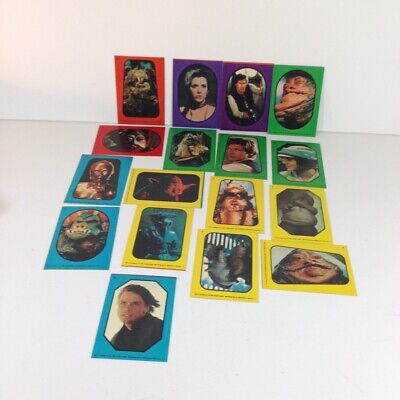 Star Wars 1983 Return Of The Jedi Topps Lot of 17 stickers