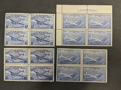 CANADA Airmail SPECIAL DELIVERY Mint STAMP BLOCK Collection #CE1-4 (#L2060)