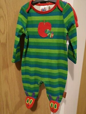 The World Of Eric Carle The Very Hungry Caterpillar Newborn~7lbs Sleepsuit /& Hat
