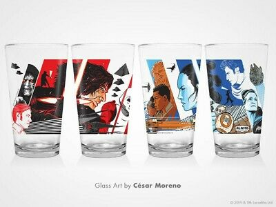 SET OF 2 Alamo Drafthouse Mondo Star Wars: The Rise of Skywalker Pint Glass