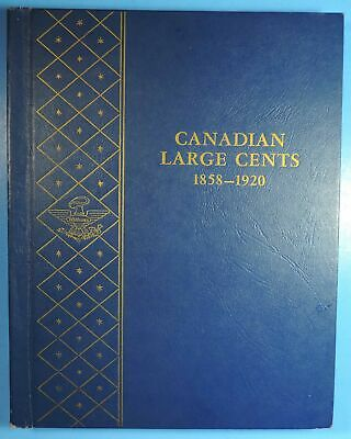 1859 - 1920 Near Complete Canada Canadian Large Cent Coin Set in Whitman Album