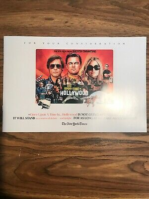 Once Upon A Time...in Hollywood Promo Fyc Booklet Tarantino