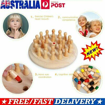 Kids Wooden Memory Match Stick Chess Game Children Kids Puzzle Educational Toys~