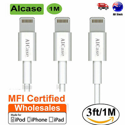 LOT 3FT Genuine MFi Certified Apple Lightning Cable USB Charger iPhone X 8 7 6s