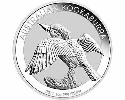 Perth Mint 2011 Kookaburra 1oz Silver (wings out) .999 Silver Coin