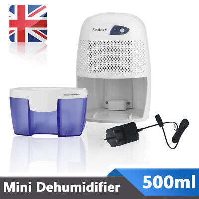 Mini Portable Electric 500ml Air Dehumidifier Home Bedroom Damp Moisture Dryer