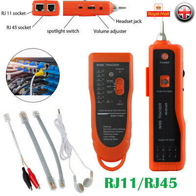 Telephone Network Cable Wire Line Probe Tracker Tester Tone Generator Finder UK