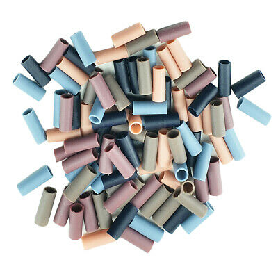 100x Elastic Rubber Hair Band Plastic Tube Findings for DIY Hair Tie Jewelry