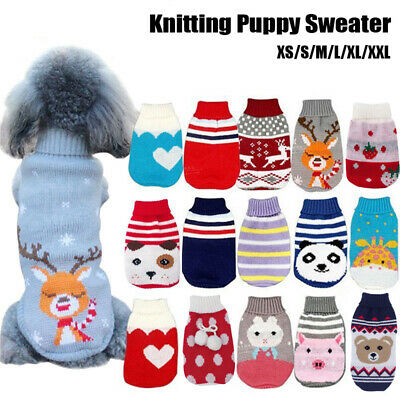 Pet Cat Puppy Dog Sweater Jacket Knitted Coat Small Dogs Winter Warm Clothes