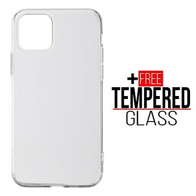 For iPhone 11 Pro Shockproof Soft TPU Silicone Case Chrome Bumper Cover - Clear