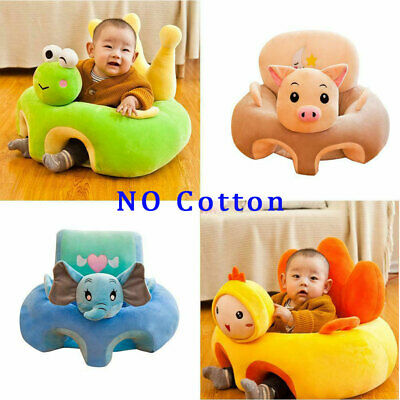 Baby Learning Sitting Seat Sofa Only Cover Case Plush Support Chair no Cotton