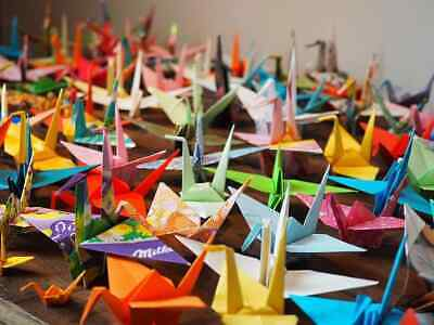 One Thousand 1000  Hand-Made Origami Paper Cranes Recycled Paper