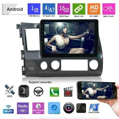 10.1''Android 9.1 Bluetooth Car Radio MP5 Player GPS Wifi FM AUX Fit For Honda