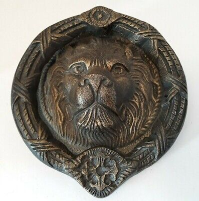 "Large Metal Lion Head Door Knocker 7"", Antique Bronze Finish"
