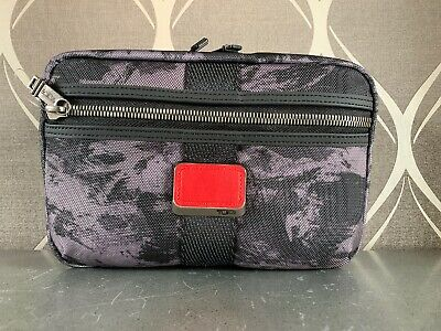 New Tumi Remo Travel Kit Style 0232391CHR MSRP $150  Gray Camouflage