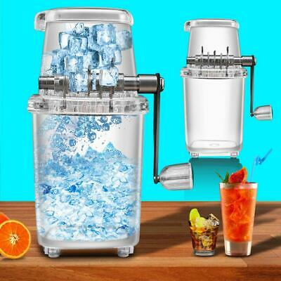 Portable Manual Hand Ice Snow Crusher Transparent Ice Crushing Machine Home Bar