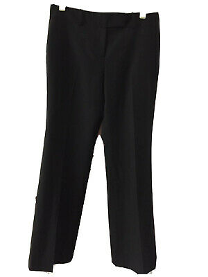 Ann Taylor Womens Signature Pants wool Blend dress career Size 8P Black Lined