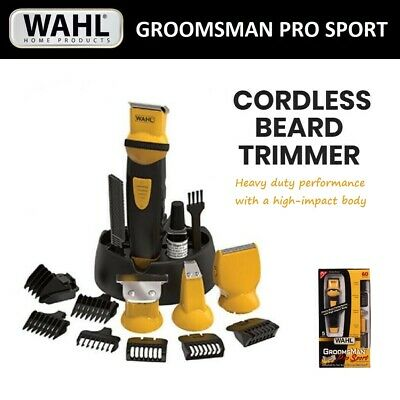 WAHL CORDLESS RECHARGEABLE Groomsman Men Beard Body Trimmer Shaver Hair Clipper