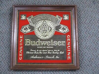 Budweiser Signs Amp Tins Breweriana Beer Collectibles