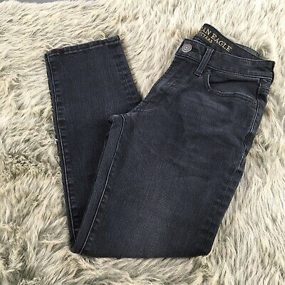 American Eagle Outfitters Slim Straight Extreme Flex 4 Black Jeans Size 26x28
