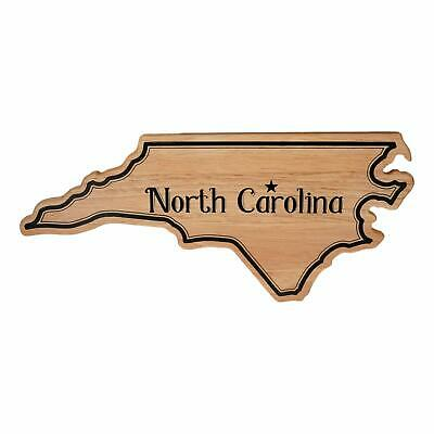 North Carolina State Shaped Cutting Board (16 x 7 x .5 in) Rubber wood Natural