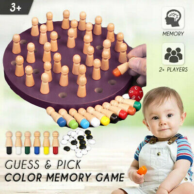 Wooden Memory Match Stick Chess Game Early Educational Learning 3D Puzzle Toy Go