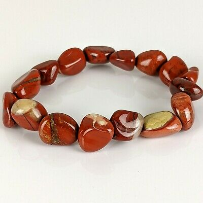 Red Jasper Bracelet China Chakra Polished Stones Crystal Fashion Jewelry Yoga