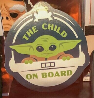 Disney Parks Star Wars Official Baby Yoda The Child On Board Magnet Mandalorian
