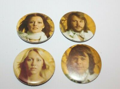 Abba Anna, Frida, Bjorn & Benny Badges Music Collectable (Lot 24)