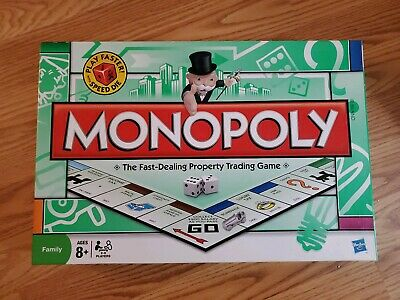 MONOPOLY Speed Die Edition 2008 Family Board Game Hasbro (missing speed dice)