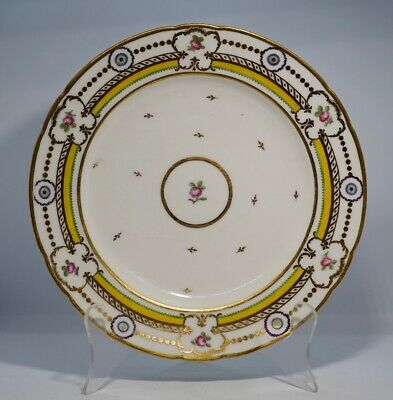 French porcelain plate, neoclassical gilt , c.1810