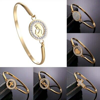 Jewelry Love Gold Bangle Family Women Fashion Bracelet Heart Stainless Steel
