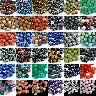Natural Gemstone Round Spacer Loose Beads Stone 4MM 6MM 8MM 10MM 12MM Wholesale