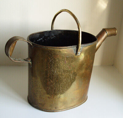 MASSIVE BRASS WATERING CAN 8 LITRES (14 PINTS) VINTAGE  HEIGHT 34 cm