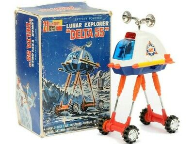 Yonezawa * Battery Powered Lunar Explorer Delta 55  * Space Toy * Ovp