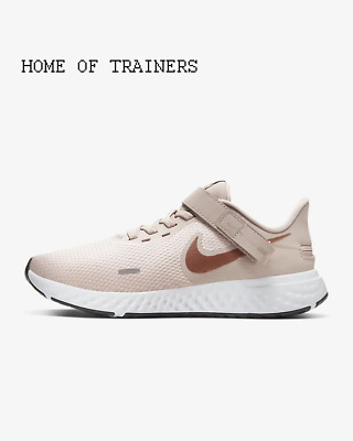 Nike Revolution 5 FlyEase Barely Rose Stone Girls Women's Trainers All Sizes