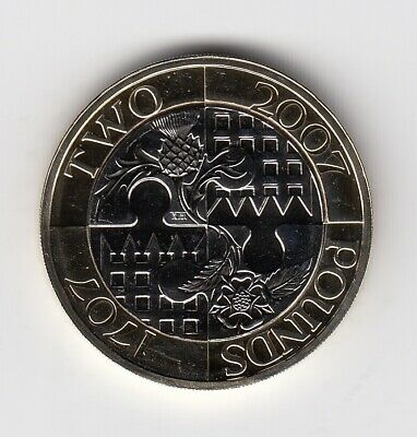 2007 TWO POUND In Brilliant UNCirculated Condition Extremely Nice Coin (3175)