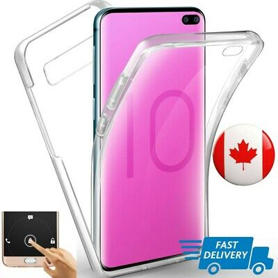 360 Clear Case For Samsung A70 A50 A30 S10 S9 S8 Plus Cover Silicone Shockproof
