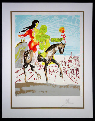 Rare Large Signed Lithograph by Salvador Dali The Messiah from the New Jerusalem