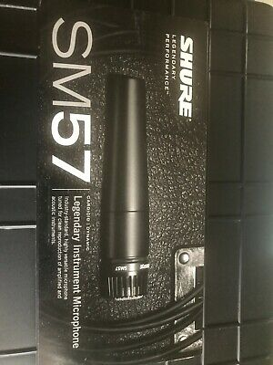 Shure SM57-LC Cardioid Dynamic Wired Instrument Microphone with Mic Clip & Pouch