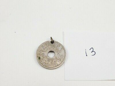 Tunisia 1926 10 Centimes Authentic Coin Pendant