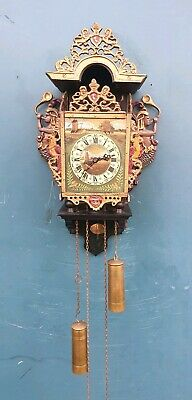 Dutch Friesian (chair-clock) Mermaid  Wall Clock Vintage Antique 8 day