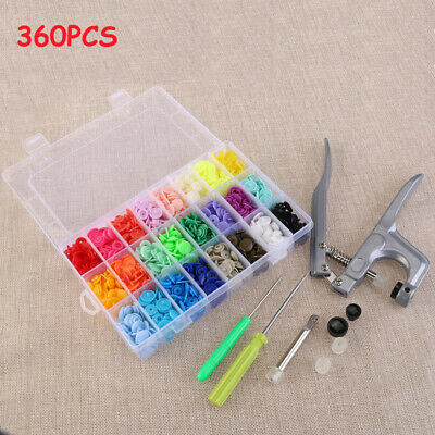 1 Set KAM Plier Kit 200 Sets 10 Mixed Color Resin Snaps Buttons For Bib Diaper